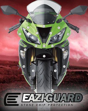 Eazi-Guard Stone Chip Paint Protection Film for Kawasaki Ninja ZX-6R 636