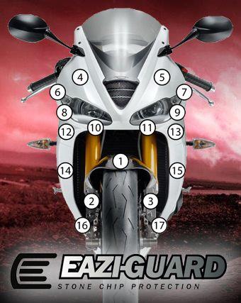 Eazi-Guard Stone Chip Paint Protection Film for Triumph Daytona 675 / R
