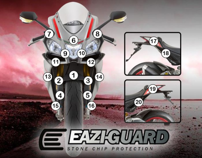 Eazi-Guard Paint Protection Film (Matte) for Aprilia RSV4 RR RF