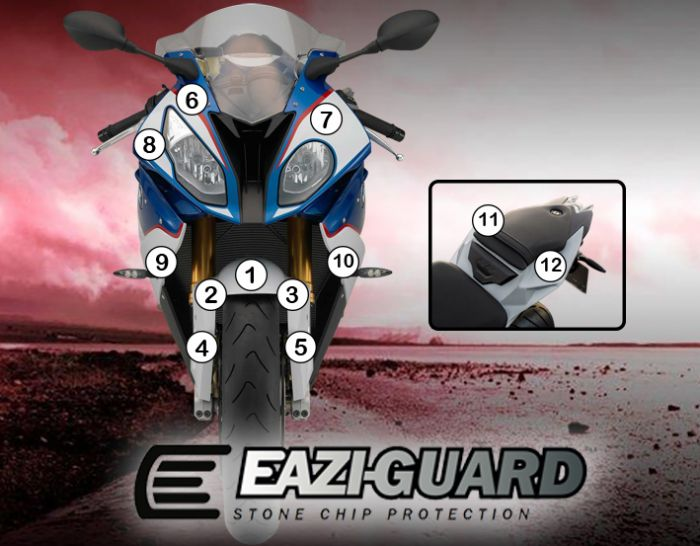 Eazi-Guard Stone Chip Paint Protection Film for BMW S1000RR 2015 - 2017