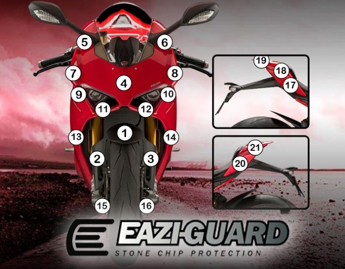 Eazi-Guard Stone Chip Paint Protection Film for Ducati Panigale V4