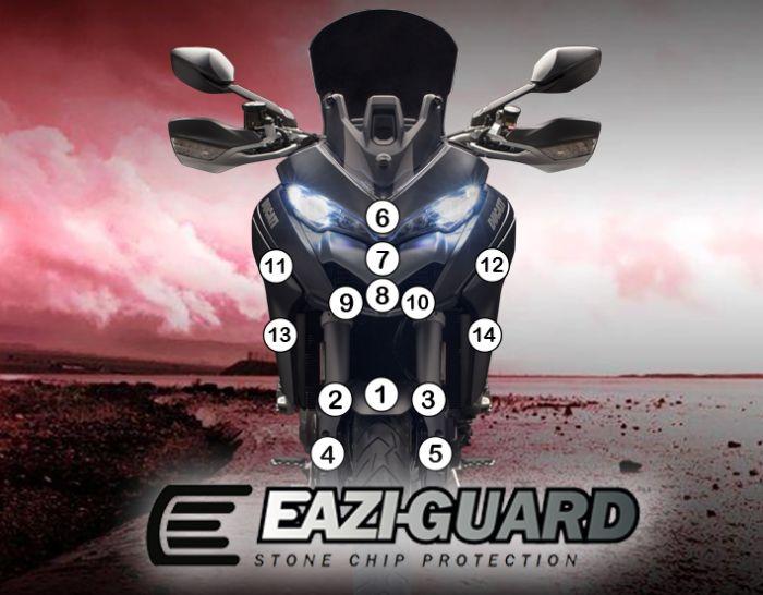 Eazi-Guard Stone Chip Paint Protection Film for Ducati Multistrada 1260 1260S