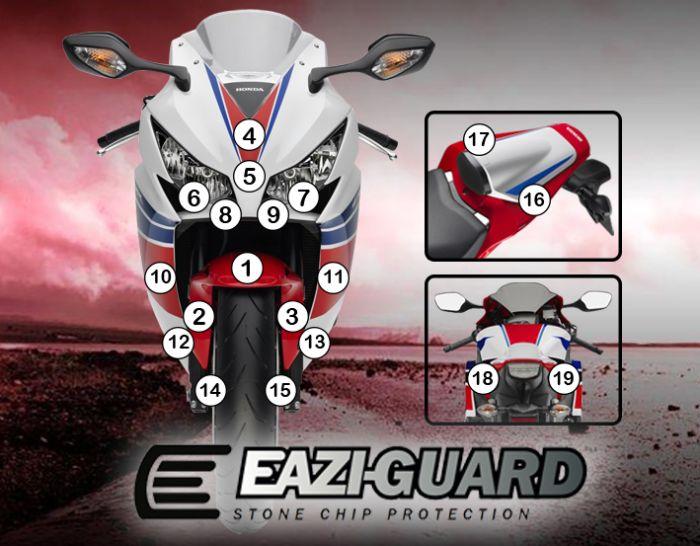 Eazi-Guard Stone Chip Paint Protection Film for Honda CBR1000RR 2012 - 2016