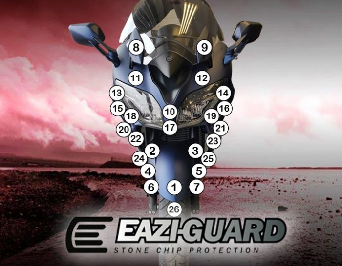 Eazi-Guard Stone Chip Paint Protection Film for Yamaha FJR1300AE/AS