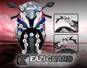 Eazi-Guard Paint Protection Film for BMW S1000RR, gloss or matte