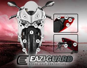 Eazi-Guard Paint Protection Film for Ducati Panigale 1299, gloss or matte