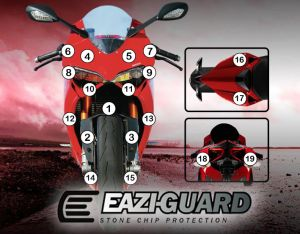 Eazi-Guard Paint Protection Film for Ducati Panigale 899 1199, gloss or matte