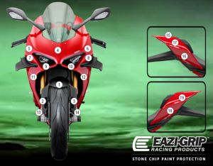 Eazi-Guard Paint Protection Film for Ducati Panigale V4 2020, gloss or matte