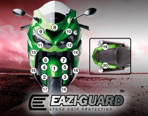 Eazi-Guard Paint Protection Film for Kawasaki ZX-14R, gloss or matte