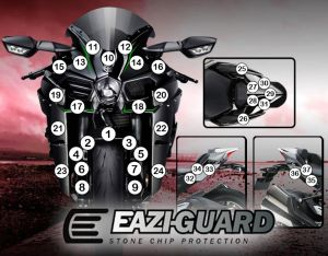 Eazi-Guard Stone Chip Paint Protection Film for Kawasaki H2 2015 - 2018