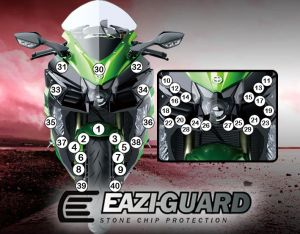 Eazi-Guard Paint Protection Film for Kawasaki H2 SX, gloss or matte