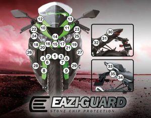 Eazi-Guard Paint Protection Film for Kawasaki ZX-6R 2019, gloss or matte