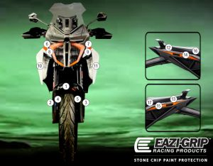 Eazi-Guard Paint Protection Film for KTM 1290 Super Duke GT, gloss or matte