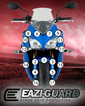 Eazi-Guard Stone Chip Paint Protection Film for Suzuki GSX-S 1000F
