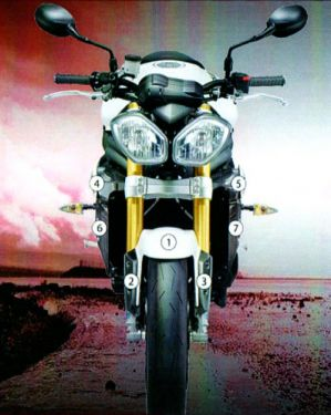 Eazi-Guard Stone Chip Paint Protection Film for Triumph Speed Triple 1050 2011 - 2015