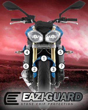 Eazi-Guard Stone Chip Paint Protection Film for Triumph Street Triple / R