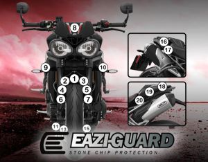 Eazi-Guard Paint Protection Film for Triumph Speed Triple RS 2018, gloss or matte