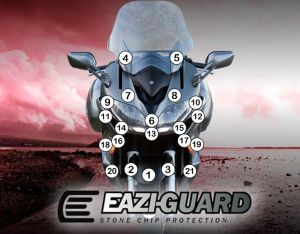 Eazi-Guard Stone Chip Paint Protection Film for Yamaha FJR1300A