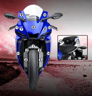 Eazi-Guard Paint Protection Film for Yamaha YZF-R1 2020, gloss or matte