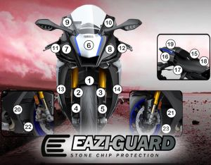 Eazi-Guard Paint Protection Film for Yamaha YZF-R1M 2020, gloss or matte