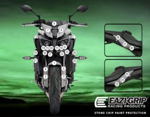 Eazi-Guard Paint Protection Film for Yamaha MT-10 2020, gloss or matte