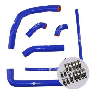 Eazi-Grip Silicone Hose and Clip Kit for Ducati 899 959 1199 1299 Panigale, blue