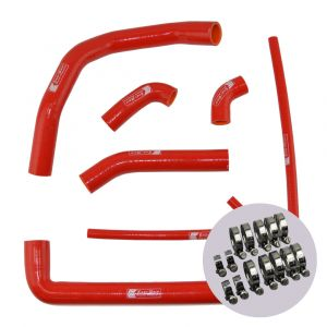 Eazi-Grip Silicone Hose and Clip Kit for Ducati 899 959 1199 1299 Panigale, red