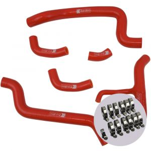 Eazi-Grip Silicone Hose and Clip Kit for Ducati 1098, red