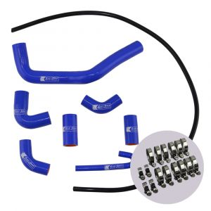 Eazi-Grip Silicone Hose and Clip Kit for Ducati Panigale V4, blue