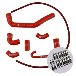 Eazi-Grip Silicone Hose and Clip Kit for Ducati Panigale V4, red