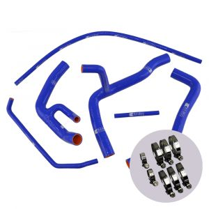 Eazi-Grip Silicone Hose and Clip Kit (Race) for Yamaha YZF-R6, blue