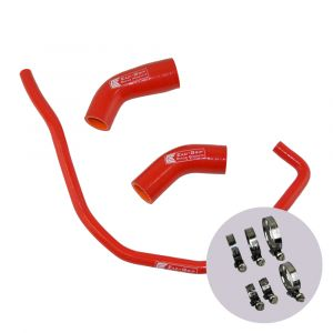 Eazi-Grip Silicone Hose and Clip Kit for Yamaha YZF-R1 MT-10, red