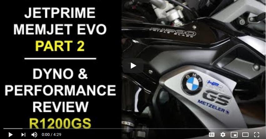 Jetprime Memjet Evo for BMW R1200GS Review Pt2